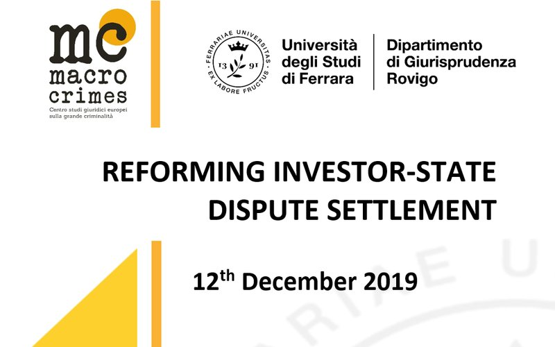 REFORMING INVESTOR-STATE DISPUTE SETTLEMENT